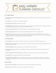 Baby Shower Party Checklist Baby Shower Checklist Template Best Of Baby Shower Planner