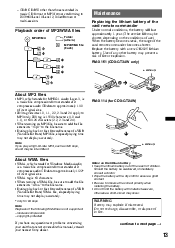 sony cdx gt24w operating instructions page 15
