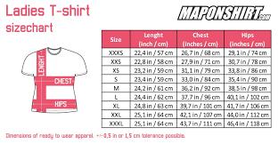 Womens Shirt Measurements Chart 2019