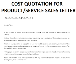 Quotation Cover Letter Templates At Allbusinesstemplates Com