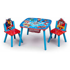 Table Set For Kids Delta Children Nick Jr Paw Patrol Table And Chair Set With Storage