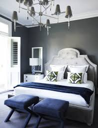 Navy And Grey Bedroom Flip Flop Walls And Headboard Light Grey Paint With Darker Grey
