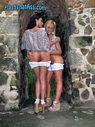 Girls Flash Ass Exhibitionists Flashing Naked Pussy Outdoors.