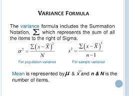 Variance Formula Variance Standard Deviation