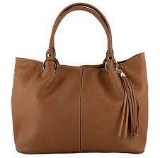 details amber leather handbag