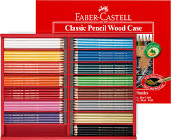 Faber Castell Classic Colour Chart Faber Castell Red Range Classic Coloured Pencils