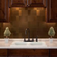 amazoncom aspect peel and stick backsplash brushed bronze short