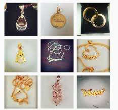 gold pendant with person s name on it sshanaya 25