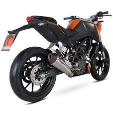 Scorpion <b>Slip</b> On Exhaust for <b>KTM Duke 125</b>/200 SCORP-RKT72