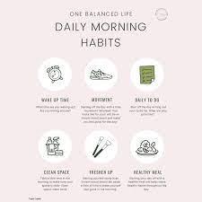 Creating a balanced morning routine - onebalancedlife.com