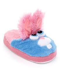 Stompeez Blue Pink Bop Bunny Fleece Slipper