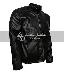 punisher skull embossed quilted mens black leather jacket motorcycle costume side