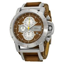 fossil chronograph brown leather strap mens watch jr1157 zoom fossil fossil chronograph brown leather strap mens watch jr1157