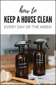 how to keep a house clean spray bottles with diy cleaner