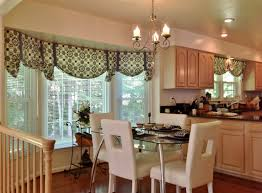 good bay window kitchen curtains and window treatment valance ideas