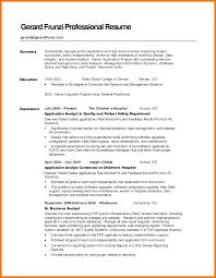 6 Summary On Resume Examples Mbta Online