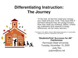 Ppt Differentiating Instruction The Journey Powerpoint