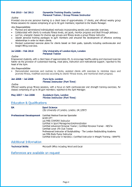 Modern Resume For Instructors Personal Trainer Cv Example Writing Guide Land Top Pt Jobs