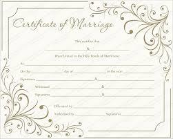 Creamy Gray Marriage Certificate Template Get Certificate Templates