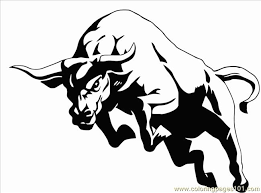 Small Picture To Draw A Cartoon Bull Coloring Page Free Bull Coloring Pages