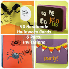 Halloween Invitations Cards 40 Handmade Halloween Cards Party Invitations