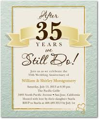35th wedding anniversary invitations 50 best anniversary party invitations and ideas images on