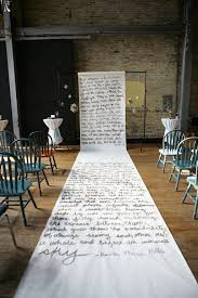 18 creative wedding aisle ideas for your big day brit co Unique Wedding Aisle Runner calligraphy runner whether you write out your vows, the story of how you met or the lyrics to your favorite song, the handwritten look is one of our unique wedding aisle runners
