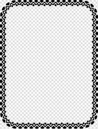 Frame For Word Microsoft Word Document Template Gray Frame Transparent
