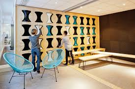 cool office interior. Cool Office Storage Space For Stools Interior