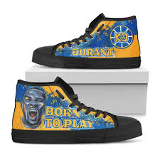 Kevin Durant Birth Chart Kevin Durant Born To Play Canvas Sneakers