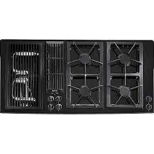 jenn air 45 inch gas downdraft cooktop color black