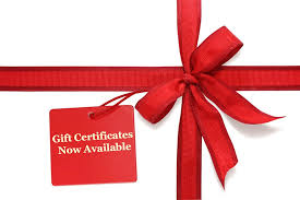 Holiday Gift Certificates Gift Certificates