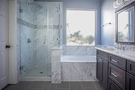 natural stone bathtub and shower