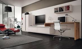 contemporary home office. office u0026 workspace contemporary home furniture with tv on wall and decorative shelves modern interior design pinterest o