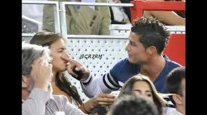 Cristiano Ronaldo and Irina Shayk at a basketball game IN SPAIN - YouTube
