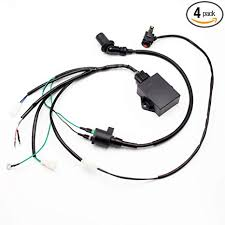 amazon com 4pack complete wire wiring harness loom ignition coil 8 amazon com 4pack complete wire wiring harness loom ignition coil 8 pin cdi unit kill switch kit for lifan w150cc zs155cc zongshen 155cc pit pro trail dirt