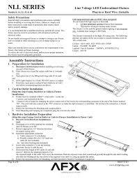 Line Voltage Led Lights Nll Series Line Voltage Led Undercabinet Fixture Plug In Or