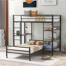 twin over twin size metal bunk bed