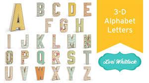 3d alphabet letters