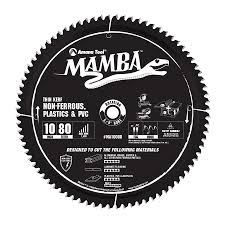 MA10080 Carbide Tipped Thin Kerf Non Ferrous, Plastic U0026 PVC Mamba  Contractor Series 10