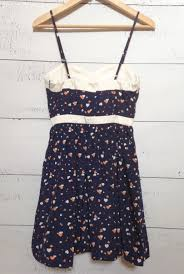 Dress Cupids Smile Sweetheart Heart Print Dress In Navy White