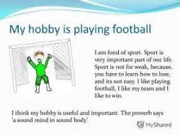 my hobby football essay  my hobby football essay