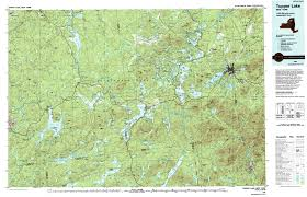 ny route  the adirondack trail tupper lake topographic map