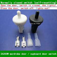 kitchen cabinet lamp switch door control switch trigger switch wardrobe lights switch normally closed since reset cabinet light switch