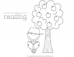 Johnny Appleseed Coloring Pages With Handwriting