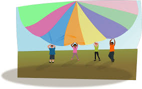Image result for parachute games clipart