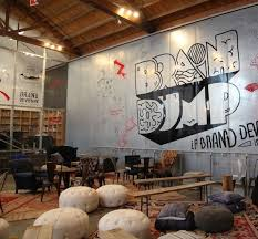 interesting office spaces. interesting seating and branding office spaces