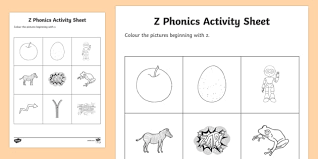 Phonics song zzlet's learn the letter zz and its sound! Z Phonics Colouring Worksheet Worksheet Teacher Made