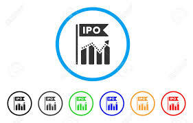 Ipo Chart Rounded Icon Style Is A Flat Gray Symbol Inside Light