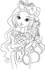 Coloriage Fille Belle Au Bois Dormant Imprimer